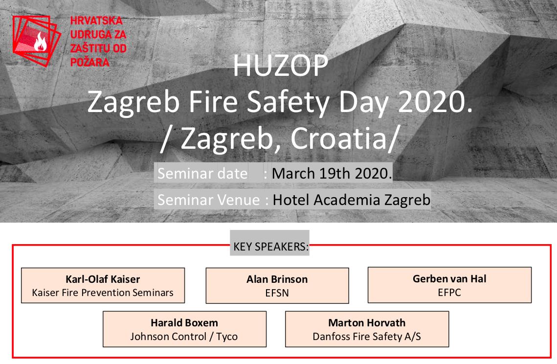 """Poziv na međunarodni seminar """"HUZOP Zagrebački dan zaštite od požara 2020."""""""