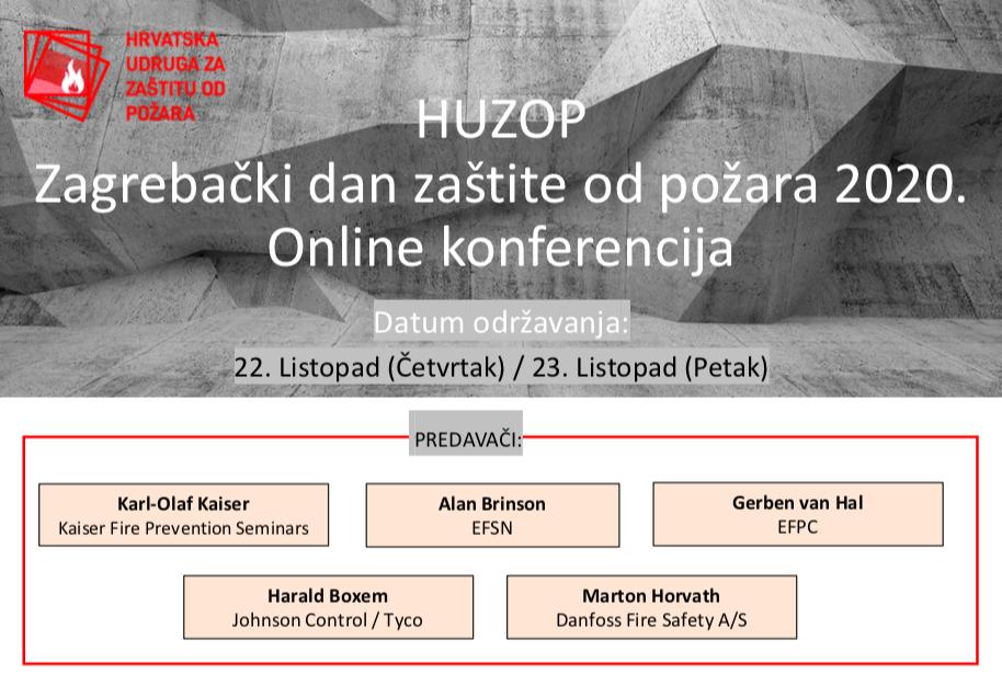 Poziv na online konferenciju – HUZOP Zagreb Fire Safety Day 2020.